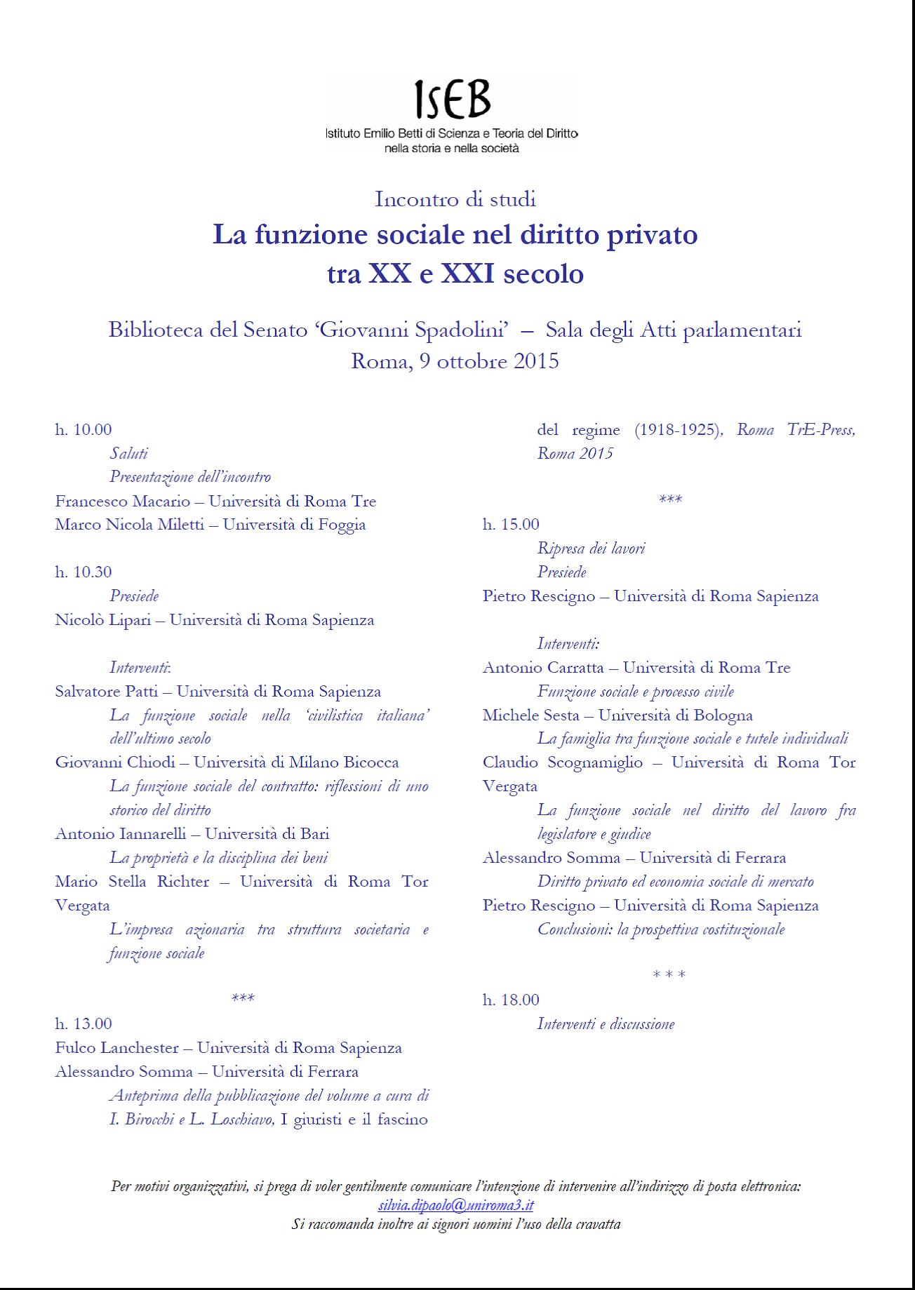 Convegno Istituto Betto 9 Ottobre 2015