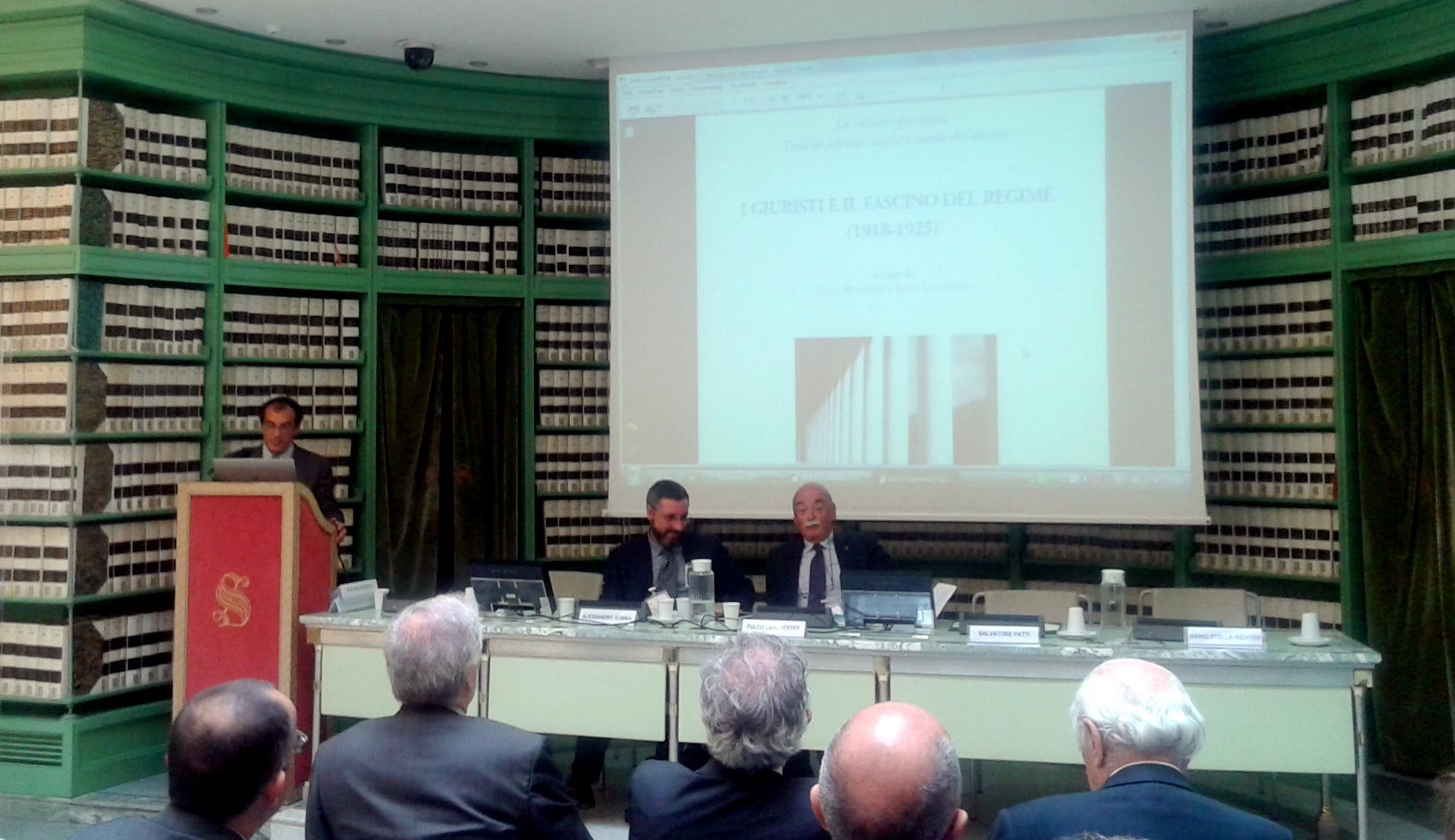 Da sinistra: Luca Loschiavo, Alessandro Somma e Fulco Lanchester