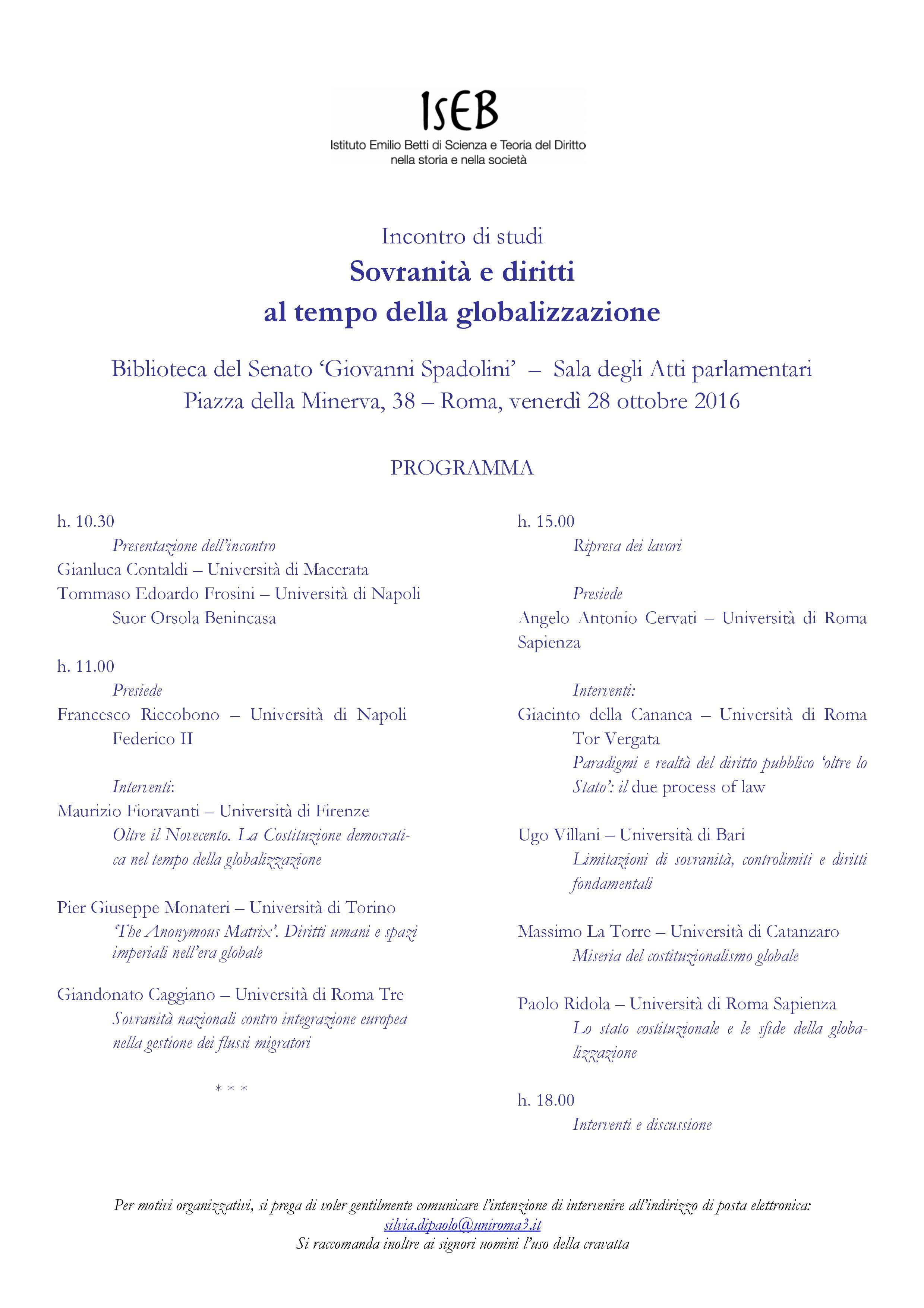 Locandina convegno 28 ottobre Istituto Betti
